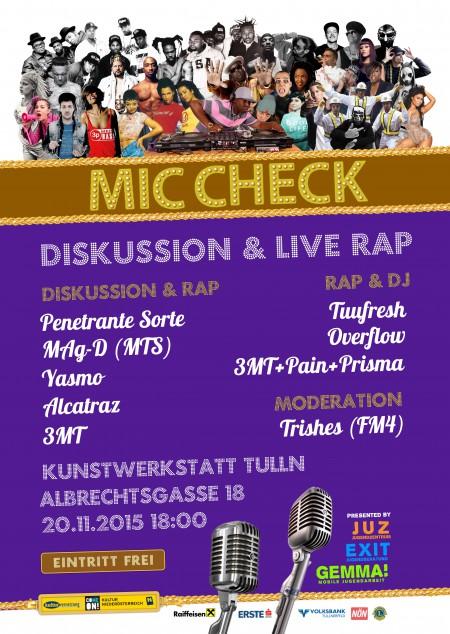 Mic Check Poster
